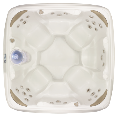Dream Maker Crossover 730S Top Down Sterling White Hot Tub