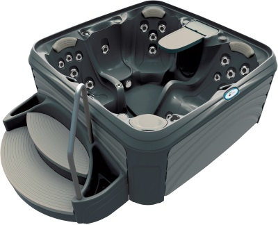 Cabana 3500 Hot Tub in Black Diamond Grey